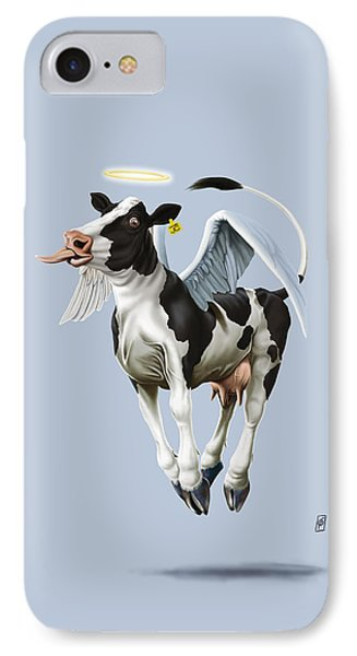 IPhone Case featuring the drawing Holy Cow Colour by Rob Snow