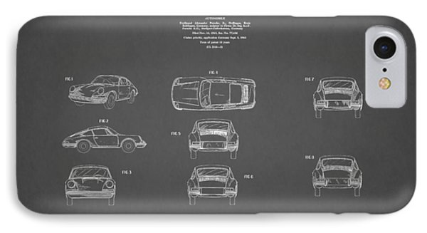Porsche 911 Patent 1964 IPhone Case
