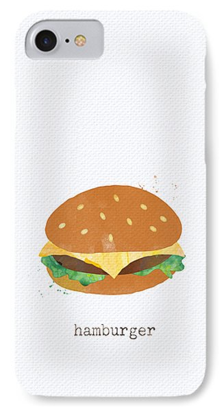 Hamburger IPhone 7 Case by Linda Woods