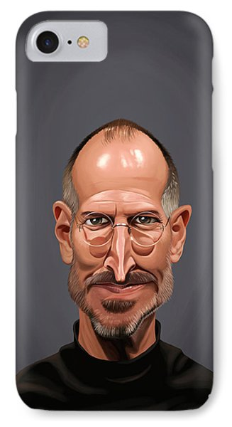 Celebrity Sunday - Steve Jobs IPhone Case by Rob Snow
