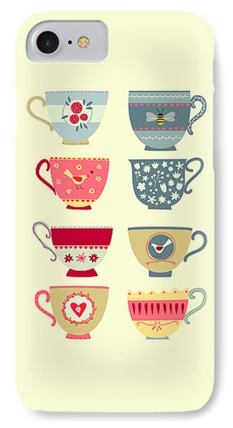 Tea Cups IPhone Case by Nic Squirrell