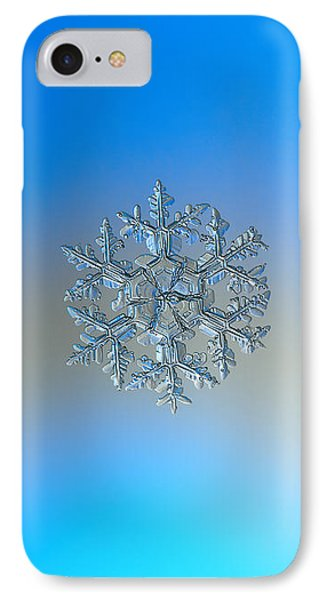 IPhone Case featuring the photograph Snowflake Photo - Gardener's Dream by Alexey Kljatov