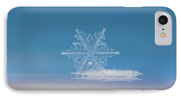 IPhone Case featuring the photograph Snowflake Photo - Cloud Number Nine by Alexey Kljatov