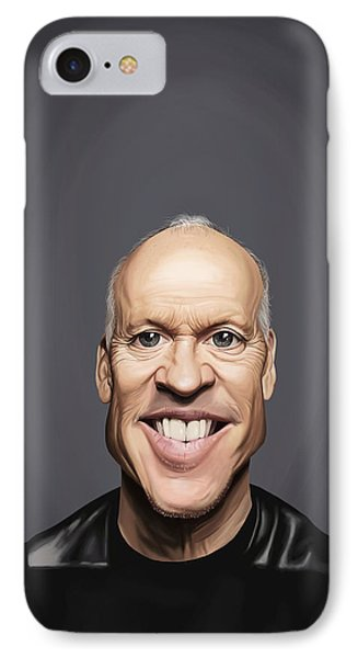 Celebrity Sunday - Michael Keaton IPhone Case by Rob Snow