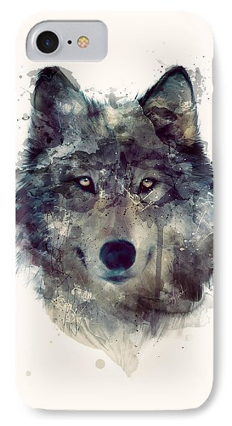 Wolf // Persevere IPhone 7 Case by Amy Hamilton