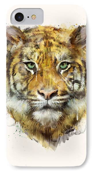 Tiger // Strength IPhone Case by Amy Hamilton