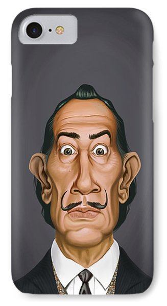 Celebrity Sunday - Salvador Dali IPhone Case by Rob Snow