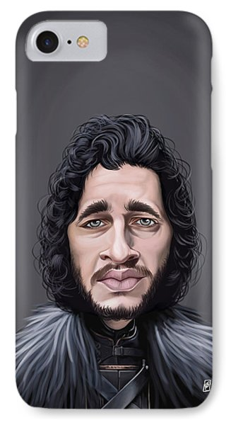 IPhone Case featuring the drawing Celebrity Sunday - Kit Harington by Rob Snow