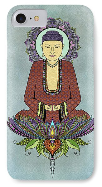 Electric Buddha IPhone Case by Tammy Wetzel
