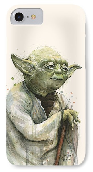 Yoda Portrait IPhone Case by Olga Shvartsur
