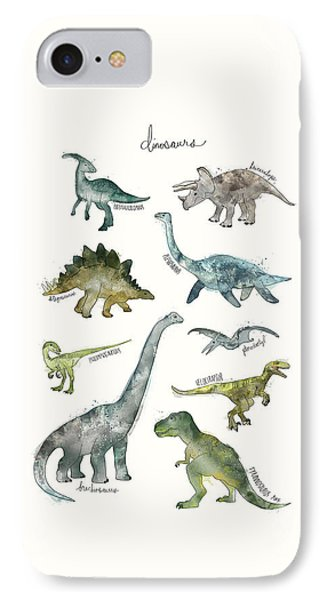Dinosaurs IPhone 7 Case by Amy Hamilton