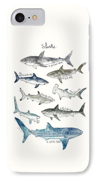 Sharks IPhone 7 Case by Amy Hamilton