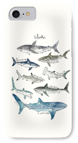 Sharks IPhone Case by Amy Hamilton