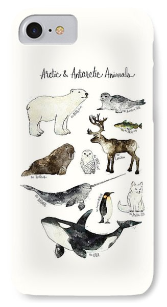 Arctic And Antarctic Animals IPhone Case by Amy Hamilton