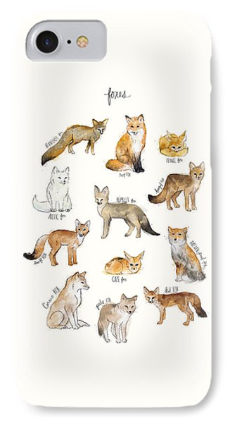 Foxes IPhone Case by Amy Hamilton