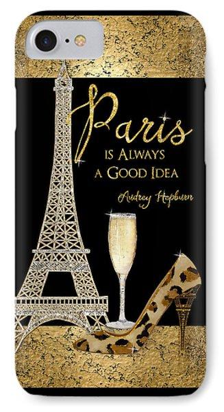 Paris Is Always A Good Idea - Audrey Hepburn IPhone Case by Audrey Jeanne Roberts