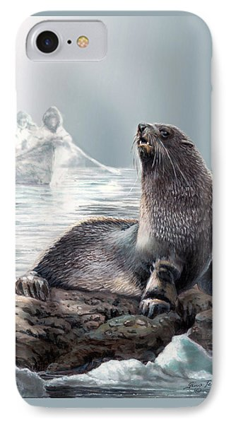 Harp Seal And Native Hunters IPhone Case by Regina Femrite