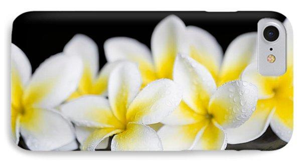 IPhone Case featuring the photograph Plumeria Obtusa Singapore White by Sharon Mau