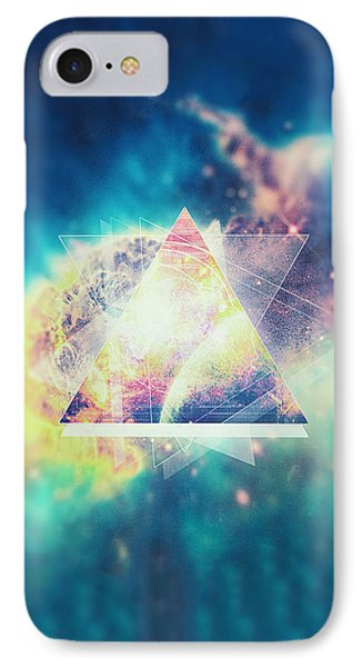 Awsome Collosal Deep Space Triangle Art Sign IPhone Case by Philipp Rietz