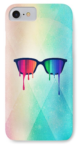 Love Wins Rainbow - Spectrum Pride Hipster Nerd Glasses IPhone Case by Philipp Rietz