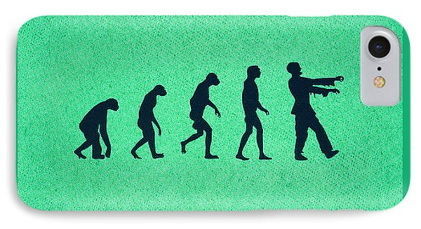 Evolution Of Zombies Zombie Walking Dead IPhone Case by Philipp Rietz
