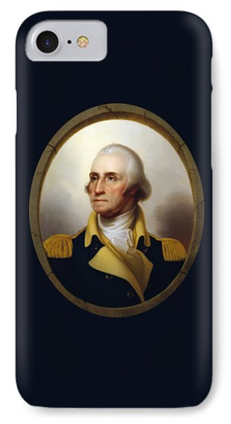 General Washington - Porthole Portrait  IPhone 7 Case by War Is Hell Store