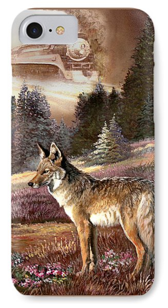 Encounter With The Iron Hors  IPhone Case by Regina Femrite