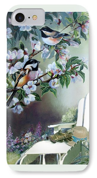 Chickadees In Blossom Tree IPhone 7 Case