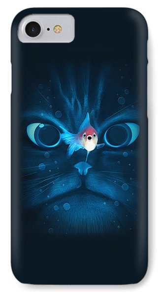 Cat Fish IPhone 7 Case by Nicholas Ely