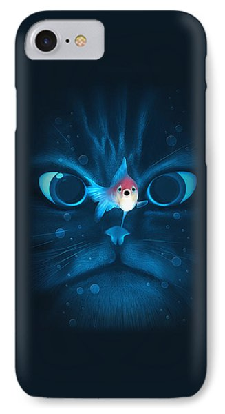 Cat Fish IPhone Case by Nicholas Ely