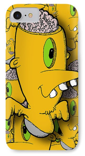 Encephalon IPhone Case by Uncle J's Monsters