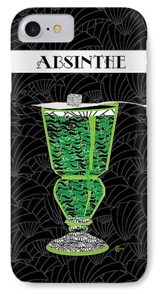 Absinthe Cocktail Art Deco Swing IPhone Case by Cecely Bloom
