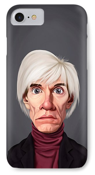 Celebrity Sunday - Andy Warhol IPhone Case by Rob Snow