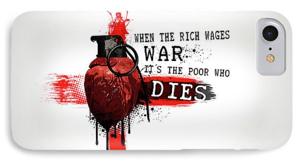 When The Rich Wages War... IPhone Case by Nicklas Gustafsson