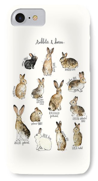 Rabbit iPhone 7 Case - Rabbits And Hares by Amy Hamilton