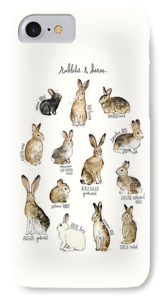 Rabbits And Hares IPhone 7 Case by Amy Hamilton