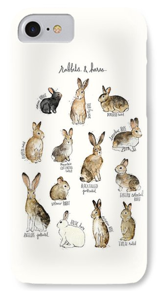 Rabbits And Hares IPhone Case by Amy Hamilton