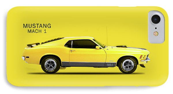 Mustang Mach 1 IPhone Case by Mark Rogan