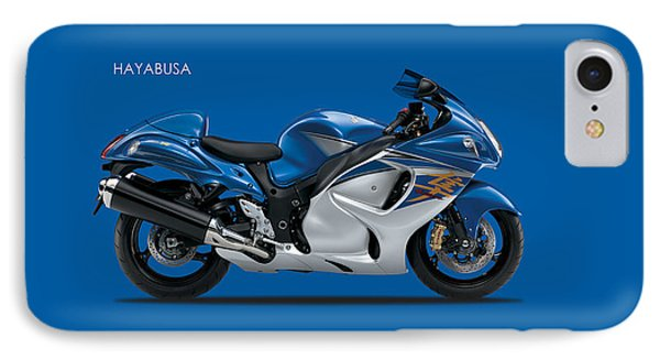 Hayabusa In Blue IPhone Case by Mark Rogan
