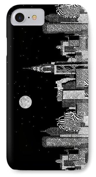 Manhattan At Night New York Swings IPhone Case