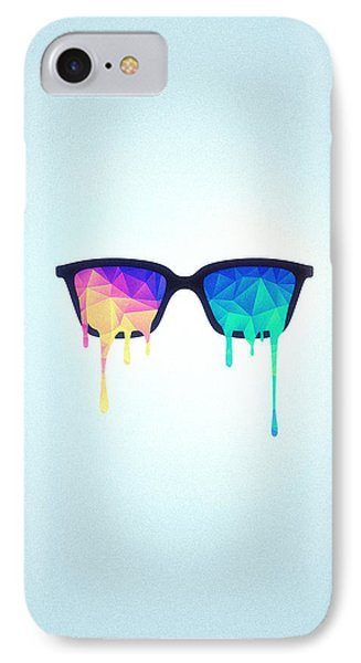 Psychedelic Nerd Glasses With Melting Lsd Trippy Color Triangles IPhone Case by Philipp Rietz