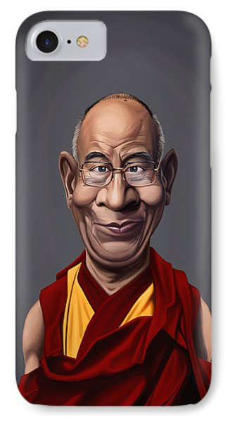 Celebrity Sunday - Dalai Lama IPhone Case by Rob Snow