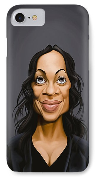 Celebrity Sunday - Rosario Dawson IPhone Case by Rob Snow