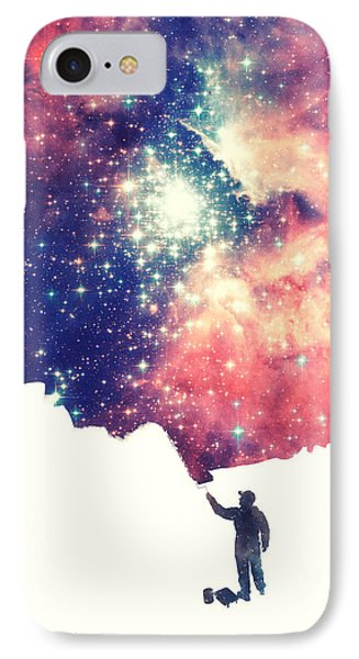 Painting The Universe Awsome Space Art Design IPhone Case by Philipp Rietz
