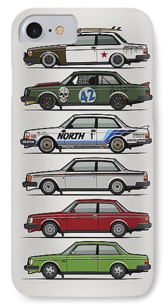 Stack Of Volvo 242 240 Series Brick Coupes IPhone Case