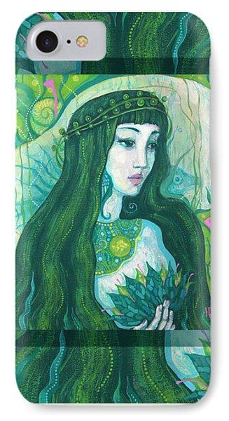 The Mermaid, Acrylic Painting, Fantasy Art IPhone Case