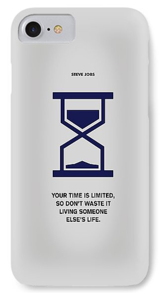 Time Is Limited Steve Jobs Famous Life Inspiring Quotes Poster IPhone Case by Lab No 4 The Quotography Department