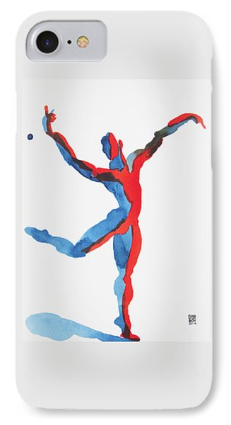 IPhone Case featuring the painting Ballet Dancer 3 Gesturing by Shungaboy X