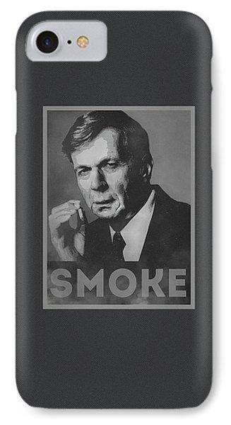 Smoke Funny Obama Hope Parody Smoking Man IPhone Case by Philipp Rietz