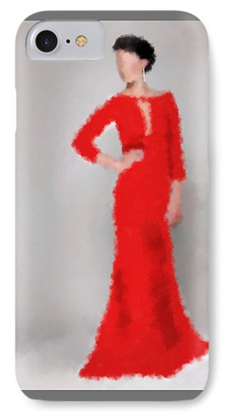 IPhone Case featuring the digital art Vivienne by Nancy Levan